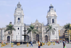 Cathedral at Plaza de Armas Stock Photo