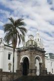 Cathedral on plaza grande quito ecuador. Cathedral on plaza grande church of el segrario quito ecuador next to palacio del gobierno Stock Image