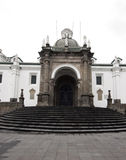 Cathedral plaza grande quito ecuador. National cathedral plaza grande quito ecuador by the national presidential palace south america Stock Image