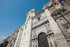 Cathedral in Plaza Mayor, Lima, Peru Royalty Free Stock Photography