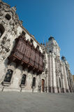 Cathedral in Plaza Mayor, Lima, Peru. This image show the Cathedral in Plaza Mayor, Lima, Peru Royalty Free Stock Photo