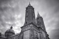 Cathedral in Plock, Poland. HDR image Royalty Free Stock Photos