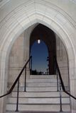 Cathedral Portal. Photo of passage way at dusk at the National Cathedral in Washington D.C Royalty Free Stock Image