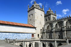 Cathedral of Porto. Yard of cathedral in Porto, Portugal Stock Image