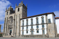 Cathedral of Porto. Facade of cathedral in Porto, Portugal Stock Photography