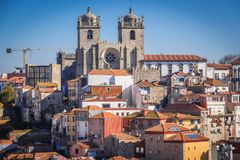 Cathedral in Porto city. In Portugal Royalty Free Stock Image