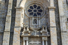 Cathedral in Porto. Frontage of Se Cathedral in Porto city in Portugal Royalty Free Stock Images