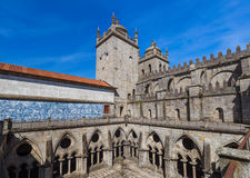 Cathedral in Porto old town - Portugal. Architecture background Royalty Free Stock Images