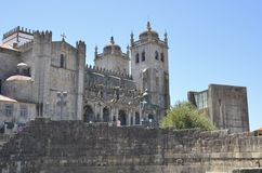The cathedral of Porto. Portugal. The building is one of the most important Romanesque monuments in Portugal Royalty Free Stock Images
