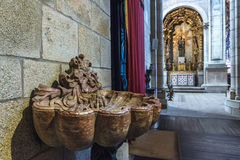 Cathedral in Porto. Stoup in Se Cathedral in Porto city in Portugal Royalty Free Stock Photography