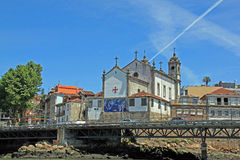 The Cathedral in Porto. View of the Church Santa-Ildefons in Porto Stock Photography
