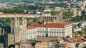 Cathedral of Porto -  view from Clerigos Tower in stock video