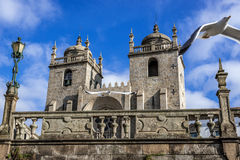 Cathedral in Porto. View on two towers of cathedral in Porto, Portugal Royalty Free Stock Photos