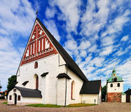 The Cathedral of Porvoo. A recently restored medieval church in the south of Finland Royalty Free Stock Photo