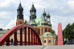 Cathedral in Poznan Royalty Free Stock Photography