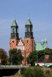 Cathedral in Poznan, Poland. Stock Images