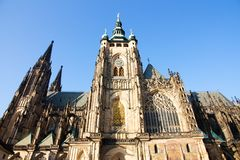 Cathedral at prague castle Royalty Free Stock Photo