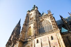 Cathedral at prague castle Royalty Free Stock Images
