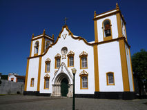 Cathedral in Praia da Vitoria - Azores Royalty Free Stock Photo
