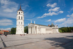 Cathedral pubic domain square area in Vilnius Royalty Free Stock Photography