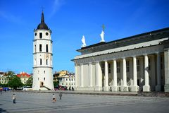 Cathedral pubic domain square area in the Vilnius Royalty Free Stock Photos
