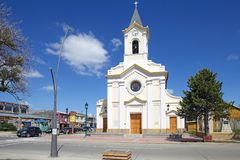 Cathedral of Puerto Natales in Patagonia, Chile Royalty Free Stock Image