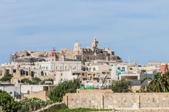 Cathedral in Rabat (Victoria), Gozo Island, Malta. stock photo