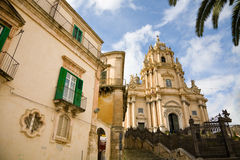 Cathedral, Ragusa, Sicily stock images