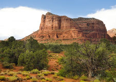 Cathedral red rock in Sedona,AZ. Photograph of magnificent Cathedral red rock in Sedona,AZ Royalty Free Stock Image