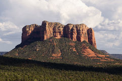 Cathedral red rock in Sedona,AZ Royalty Free Stock Image