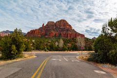 Cathedral red rock sedona AZ royalty free stock image