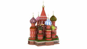 Cathedral on the Red Square in Moscow stock video footage