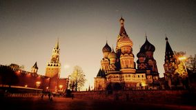 The Cathedral on red square Royalty Free Stock Image