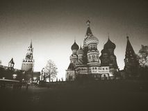 The Cathedral on red square. A view of the Cathedral and the Kremlin on red square in Moscow Royalty Free Stock Images