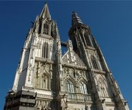 Cathedral in Regensburg. A Cathedral in Regensburg, Bavaria royalty free stock images