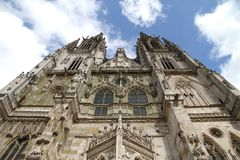 Cathedral of Regensburg royalty free stock photos