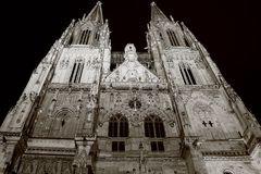 Cathedral in regensburg Stock Image