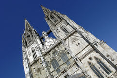 Cathedral of Regensburg in Germany Stock Photos