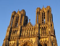 Cathedral in Reims Royalty Free Stock Photo