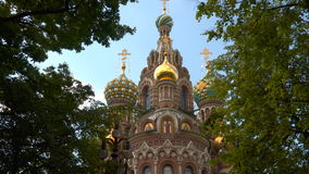 Cathedral of the Resurrection of Christ on the Blood, or the Church of the Savior on Blood in St. Petersburg stock video footage