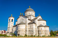 Cathedral of the Resurrection of Christ in Podgorica. Montenegro stock photography