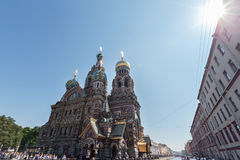 Cathedral of the Resurrection of Christ in Saint Petersburg, Russia. Church of the Savior on Blood. Royalty Free Stock Image