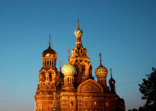Cathedral of the Resurrection on Spilled Blood (Church of Our Sa Royalty Free Stock Images
