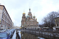 Cathedral of the Resurrection on Spilled Blood Royalty Free Stock Images