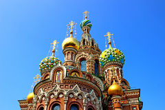 Cathedral of the Resurrection on Spilled Blood in St. Petersbur Stock Images