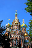 Cathedral of the Resurrection on Spilled Blood  in St. Petersbur Stock Photo