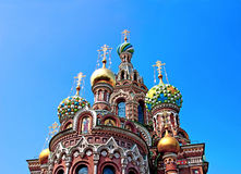 Cathedral of the Resurrection on Spilled Blood in St. Petersburg Royalty Free Stock Image