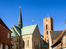 Cathedral in Ribe, Denmark Royalty Free Stock Photos