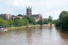 Cathedral by the river Stock Images
