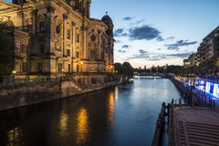 Cathedral on the river spree berlin germany europe Stock Photography